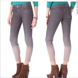 Free People Gray Dip Dye Ombre Skinny Jeans 27